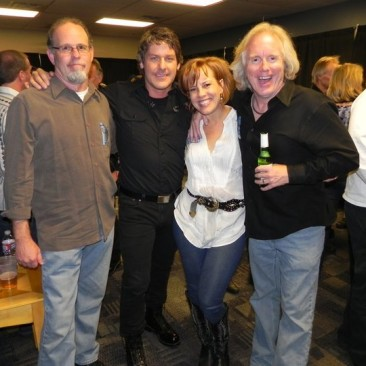 Backstage at 'The Wall - 2010' 11.23.10 - Kevin Clock, Robbie Wyckoff, Dana Giddens and RCP