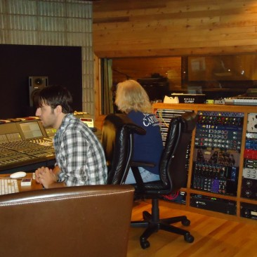 J.P. Manza and RCP tracking drums with John Robinson @ Colorado Sound - August 2011