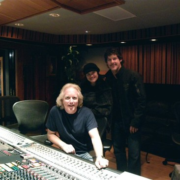 RCP, Kelly Moneymaker and Robbie Wyckoff at The Village Recorders Studio B, L.A. - February 2011